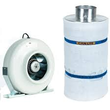 """""""LIGHT COOLING"""" CANN AIR FILTER AND EXPENSIVE FAN – THE LARGER UNITS – GREAT COMBO DEAL!"""
